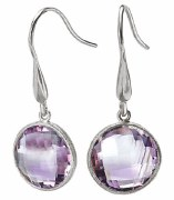 Eleganza Sterling Amethyst Earrings 826543
