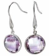 Eleganza Sterling Amethyst Earrings 826543
