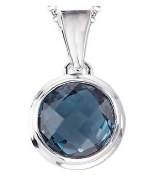 Eleganza Blue Topaz Pendant model 844047-BT