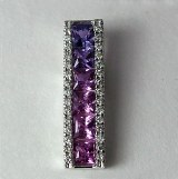 Purple Sapphire Diamond Pndt