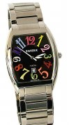 Swissa Men's A5276W/B-RBW Rainbow Cosmopolitan Collection Black Dial Watch