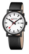 Mondaine Evo Big Date Black and White 40mm Watch Model A627.30303.61SBB