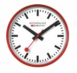 Mondaine Red and White Wall Clock A990.CLOCK.11SBC