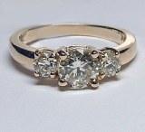 Diamond ring 14kt gold 1.47 cttw model ADA-46