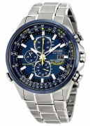 Citizen Eco Drive Men's Blue Angels World Chronograph Watch Model AT8020-54L