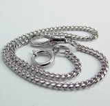 "Pocket Watch Chain 12"" WHITE"