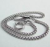 """Pocket Watch Chain 12"""" WHITE"""