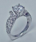 Caro 74 Engagement Rring 14kt white gold .82cttw CR117W
