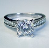 Caro 74 Engagement ring 14ktw and platinum  0.49cttw CR186W