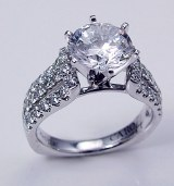 Caro 74 Engagement ring 14ktw and platinum  0.78cttw CR191W