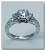 Caro 74 Engagement ring 14ktw and platinum  0.27cttw CR394W