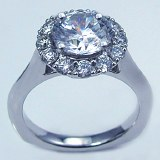 Caro 74 Engagement ring 14kt white gold 0.61cttw CR464W