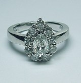Diamond ring 14kt gold 1.58 cttw model DF-1068B