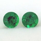 Emeralds 0.85cttw Round Cut