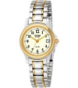 Citizen Ladies Two Tone Quartz Watch Model EU1974-57A