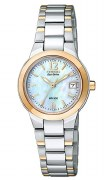 Citizen Eco Drive Women's EW1676-52D Silhouette Pearl Dial Watch
