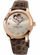 Frederique Constant Ladies Double Heartbeat Automatic 36mm Watch Model FC-310LGDHB3B4