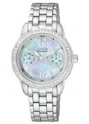 Citizen Eco Drive Women's FD1030-56Y Silhouette Pearl Dial Watch