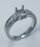 Diamond engagement ring 14ktw gold .29cttw GC5806