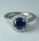 Sapphire and diamond ring 1.67cttw G-H VS2-SI1 model GCS3022-CRUZ