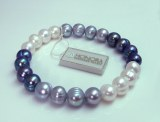 Honora Blue White Gray Pearl Bracelet HB1394BWG