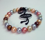 Honora Gelato Pearl Bracelet HB1394G Gree, Gray, Brown , Gold