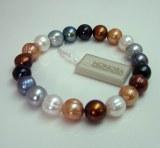 Honora Lynx Pearl Bracelet HB1395LYX Brown, Gold, Gray, White