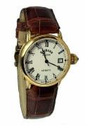 A Krieger Unisex K4004.6.5R Elite White Dial Watch 18kty Gold
