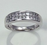 Diamond anniversary band 18kt gold 1.01cttw model LFA294W