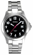 Swissa Men's M8309B-BLK Mecaline ETA Automatic Black Dial Watch
