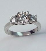 Diamond ring 18kt gold 1.60 cttw model ME-20G
