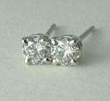 Diamond Stud Earrings 0.44cttw 14ktw GH SI2