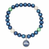 Seattle Seahawk Jewelry officially licensed NFL pearl bracelet NFB7937SE75