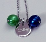 Seattle Seahawk Jewelry officially licensed NFL pendant NFP8460SE175