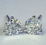 Diamond Stud Earrings 0.53cttw 14ktw H SI2