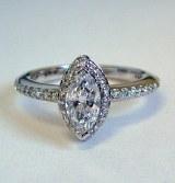 Diamond ring 14kt gold 1.04 cttw model PA-1H