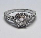 Diamond ring 14kt gold 1.26 cttw model PM1-1B