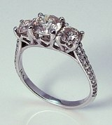 Diamond ring 14kt gold 2.00 cttw model PM1-1H
