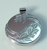 Sterling Round Plain Locket
