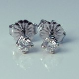 Diamond Stud Earrings 0.07cttw H SI1