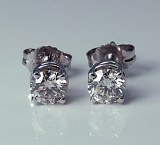 Diamond Stud Earrings 0.44cttw H SI2