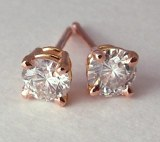 Diamond Stud Earrings Rose Gold 1/2cttw G, VS2 model RDER048-VSG