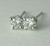 Diamond Stud Earrings 0.50cttw  F, VS model RDER048W-FVS