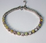 Diamond bracelet platinum 10.01cttw fancy colored diamonds
