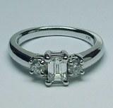 Diamond ring 14kt gold 0.84 cttw model RIK-18B