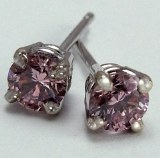 Pink Diamond Stud Earrings 0.35cttw SI1