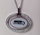 Seattle Seahawk Jewelry officially licensed NFL pendant SAX4617FECYWCH