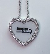 Seattle Seahawk Jewelry officially licensed NFL pendant SAX4941FECYWCH