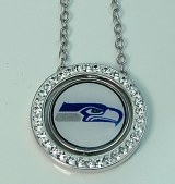Seattle Seahawk Jewelry officially licensed NFL pendant SM6814FECYW