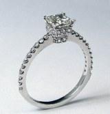 Diamond ring 14kt gold 1.10 cttw model ST-2